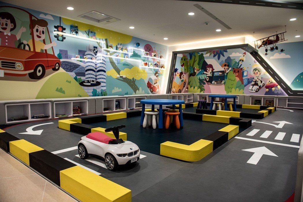 設置多處友善親子空間,例如兒童遊戲區、育嬰室、親子廁所等。 圖/汎德提供