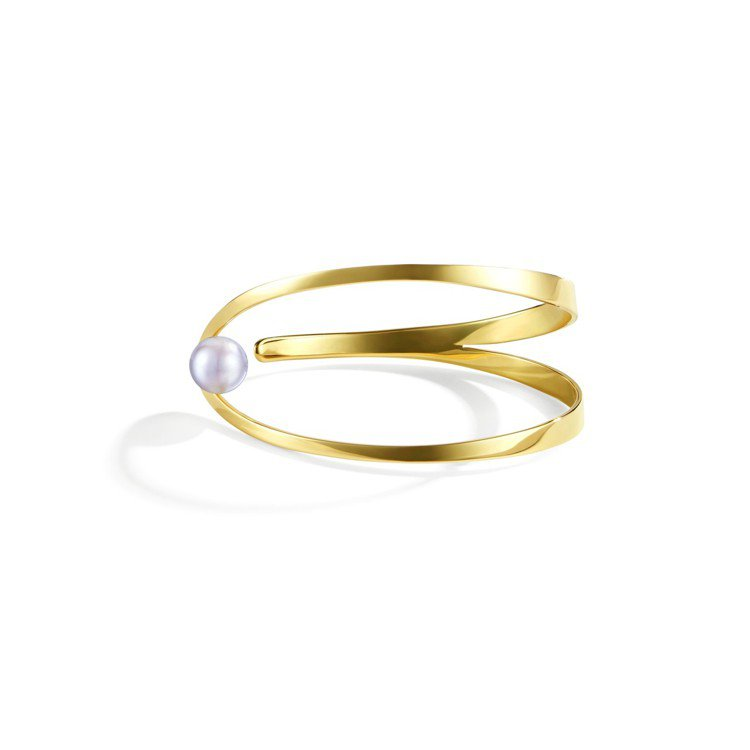 TASAKI Atelier 系列極光Aurora 珍珠黃K金手環,24萬2,0...