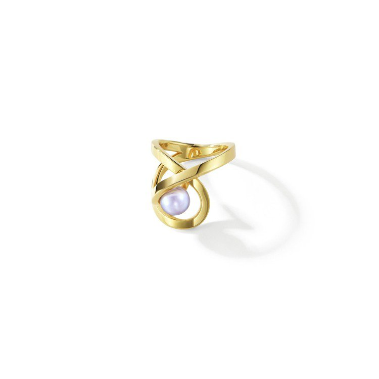 TASAKI Atelier系列極光 Aurora 珍珠黃K金戒指,73,900...