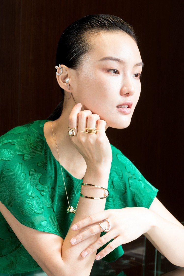 模特兒唐縈霜Gia演繹TASAKI創意總監Prabal Gurung第一個Ate...