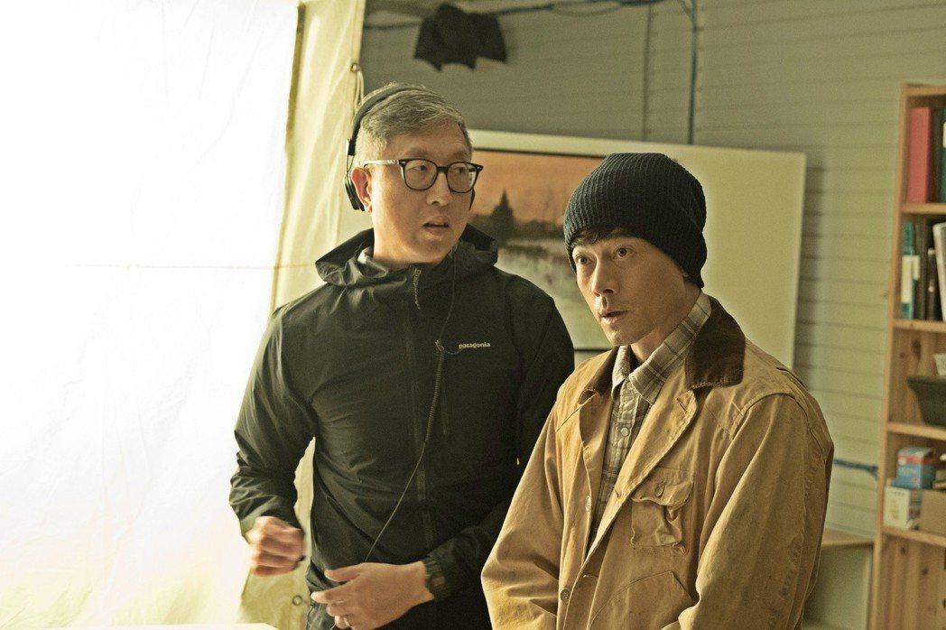 郭富城和「無雙」導演莊文強一起來台宣傳。圖/双喜提供