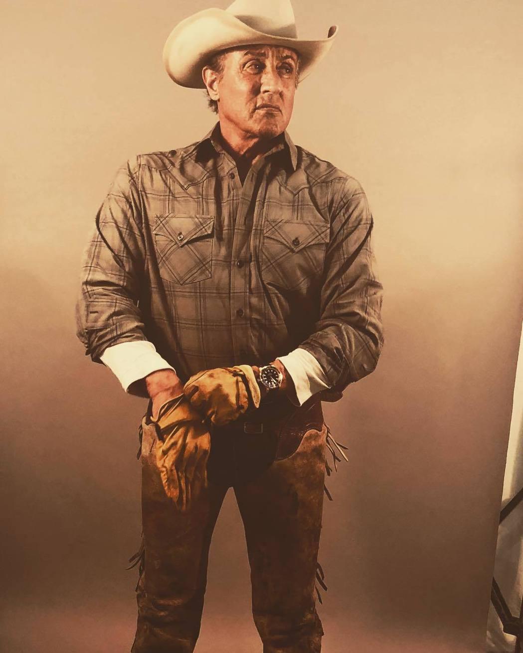 席維斯史特龍在「第一滴血5」中的藍波已變成牛仔阿伯,和昔日大不相同。圖/摘自in...