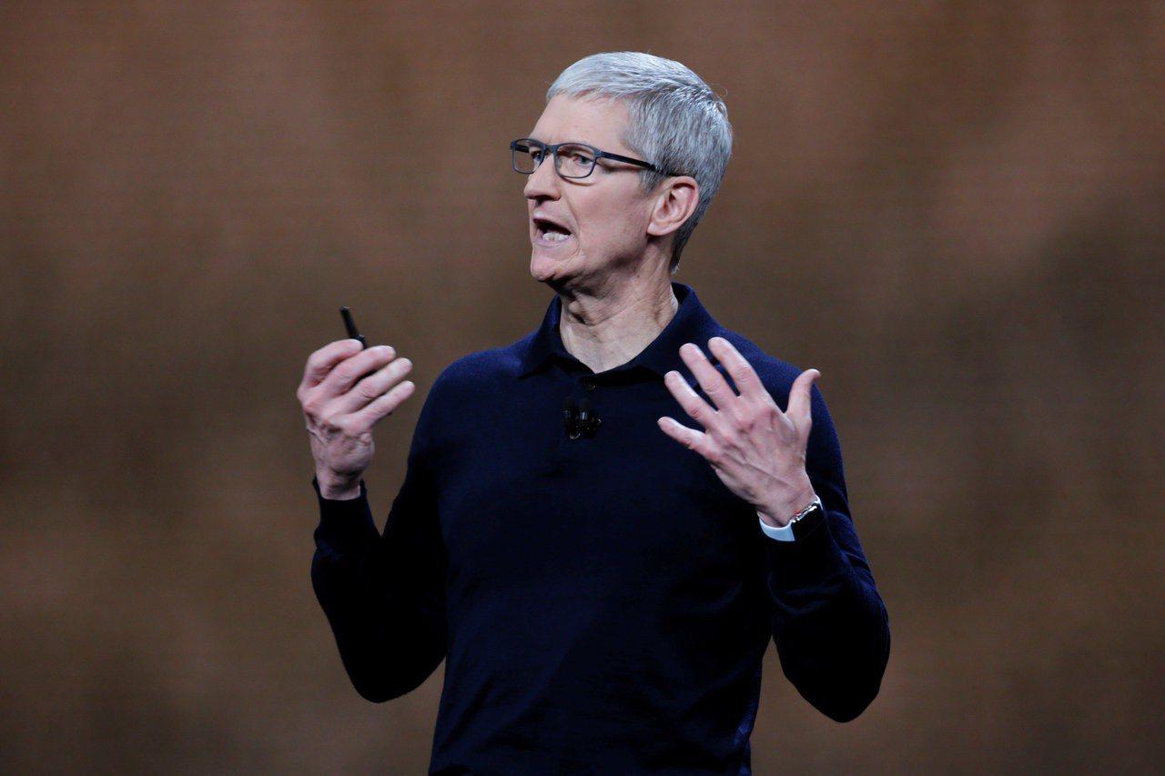 蘋果執行長庫克。 路透