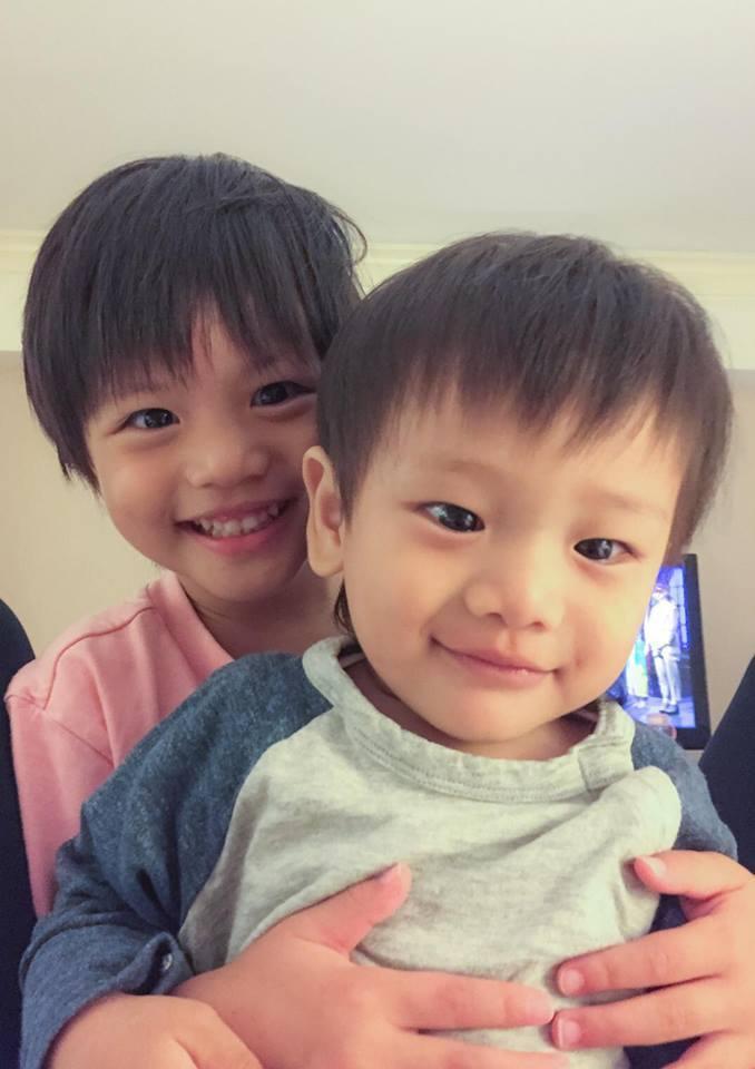 宥勝的一雙兒女長相神似。圖/摘自臉書