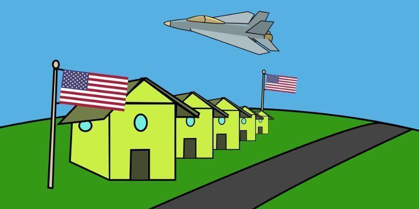 影片以簡單的繪圖介紹美國軍事概況。圖/取自美國防部網站