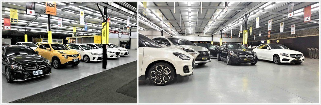 BEST中古車大賣場擁有最明亮的賞車環境、最優質的服務。莊智強/攝影