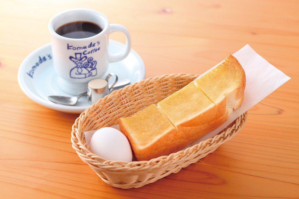 日名咖啡Komeda's Coffee早餐頗受消費者好評。台灣連鎖加盟促進協會/...