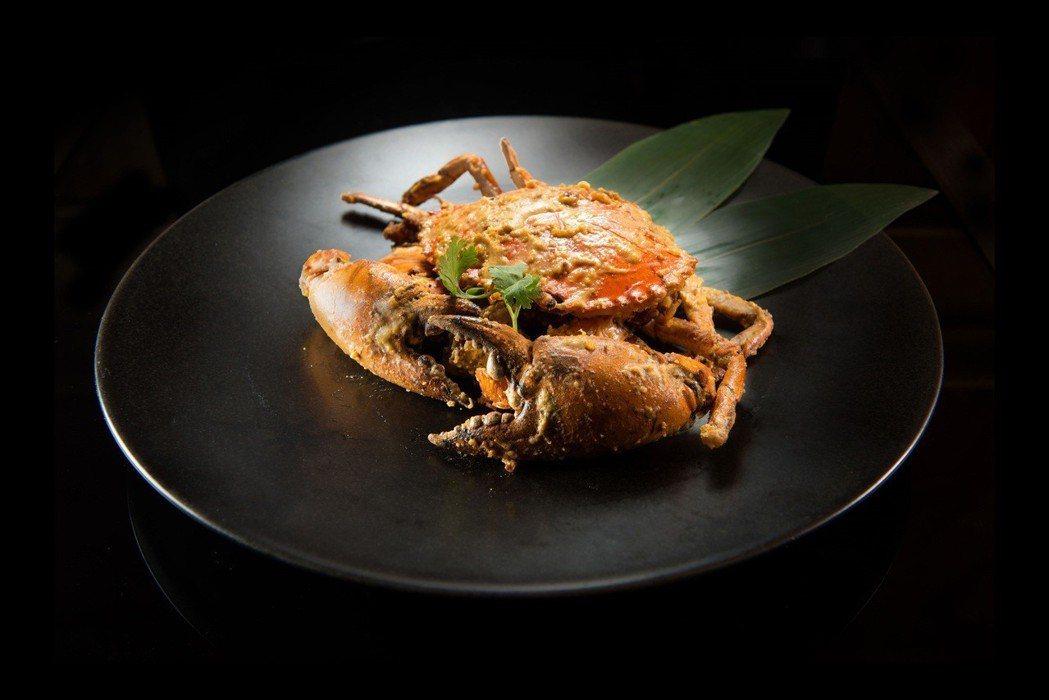 漢來大飯店9樓福園台菜海鮮餐廳所推出的黃金流沙大沙公。 業者/提供
