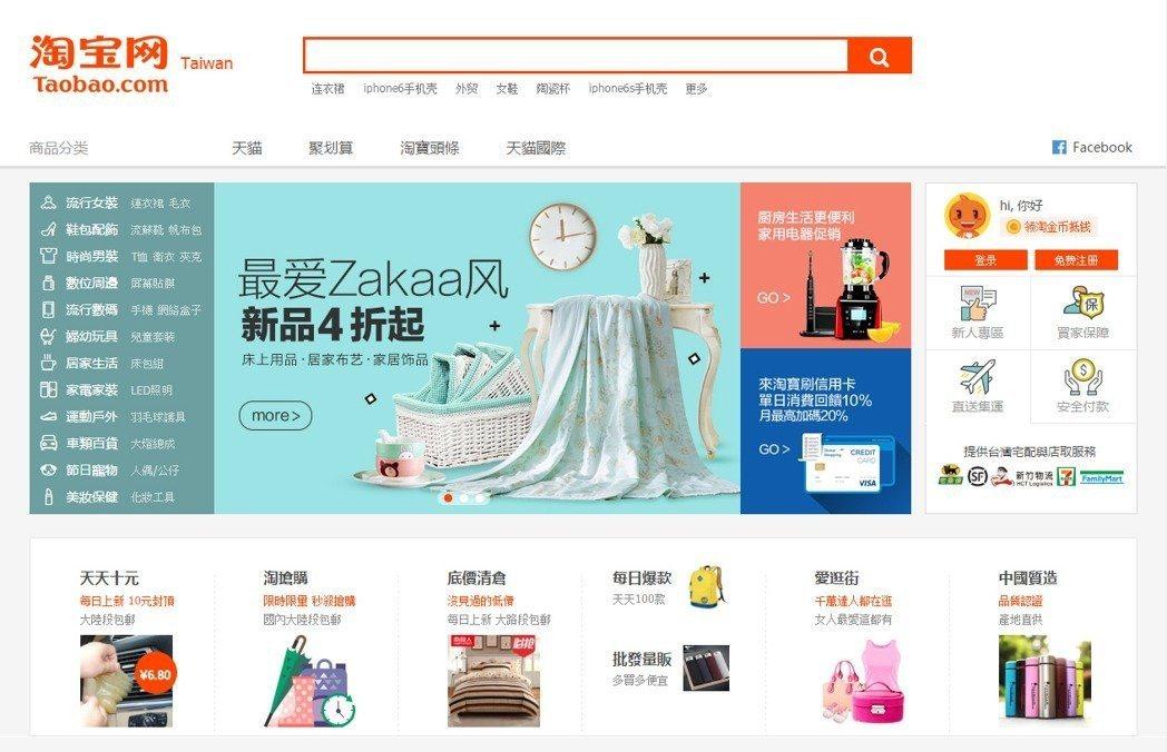 淘寶網是很多人網路購物的首選 圖片來源/淘寶