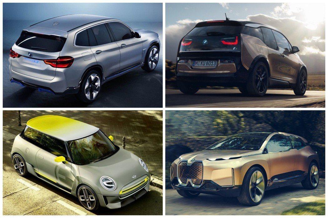除了i3已量產上市外,其他三款電動車型,包括BMW首款電動休旅,預計會在這兩三年...