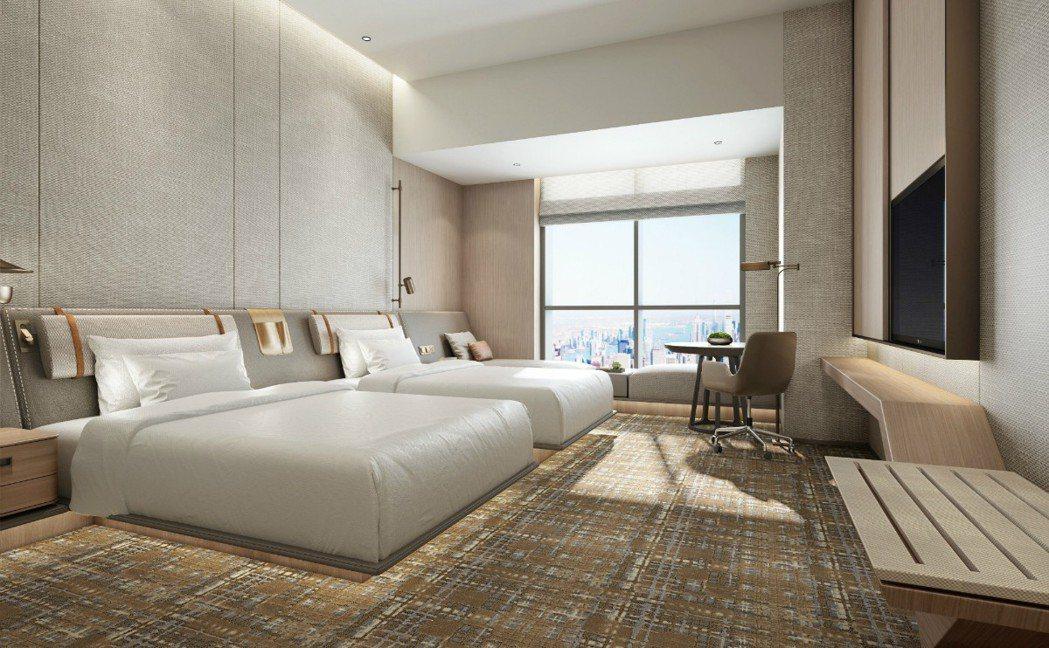 新北希爾頓酒店開幕後平均房價約7,500元,預估住房率將在第一年達到70%。 業...