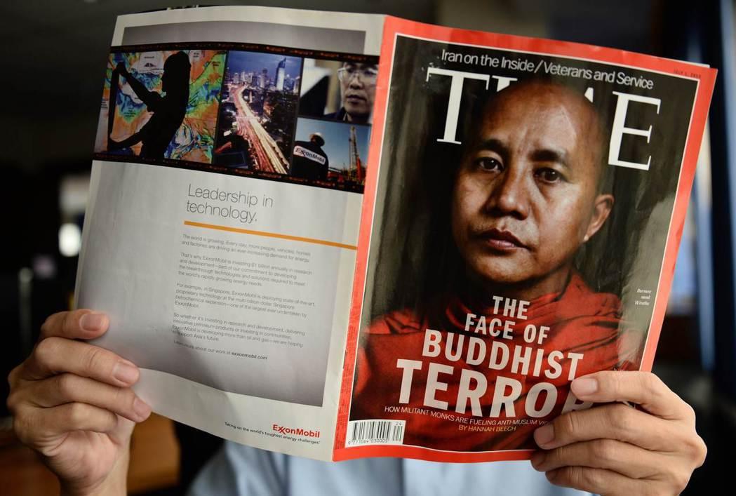 緬甸爭議的極端佛教主義僧人——威拉杜(Ashin Wirathu)——及其同夥,...