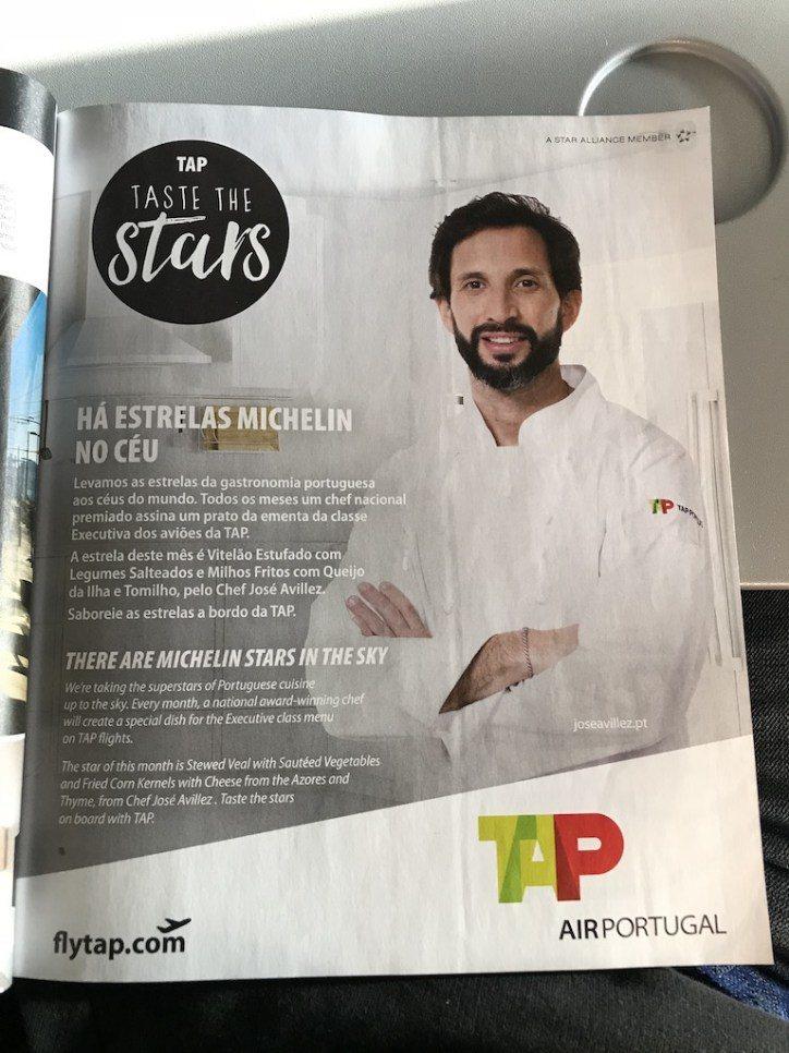 """這是機上雜誌宣傳葡萄牙航空的""""Taste the Stars"""",主要就是請米其林..."""