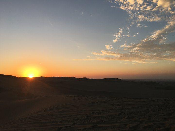 沙漠夕陽(2)。 圖/背包客棧