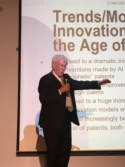 圖2:國際技術授權主管總會(LESI)前任理事長Heinz Goddar (攝影...