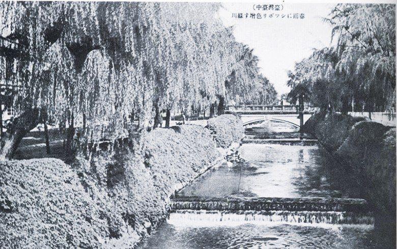 綠川:截彎取直的綠川除為當時重要的水利設施,河川綠意盎然景象也成為臺中市的代表象...