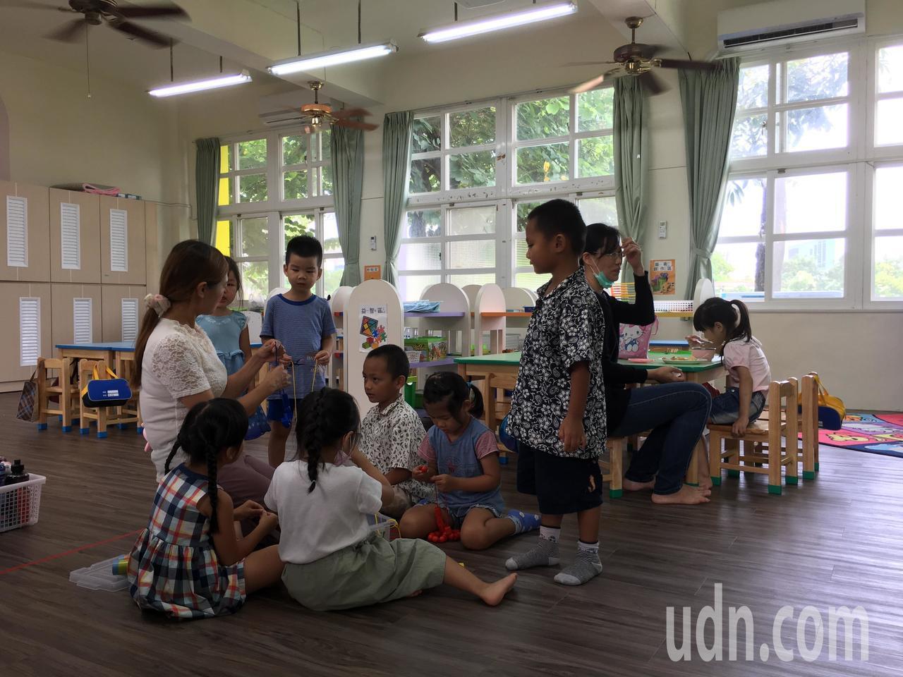 政府欲推動幼兒園學英文。聯合報系資料照/陳雅玲攝影