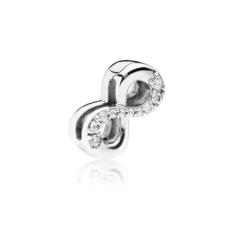 PANDORA Reflexions 璀璨無限925銀固定釦,1,480元。圖/...