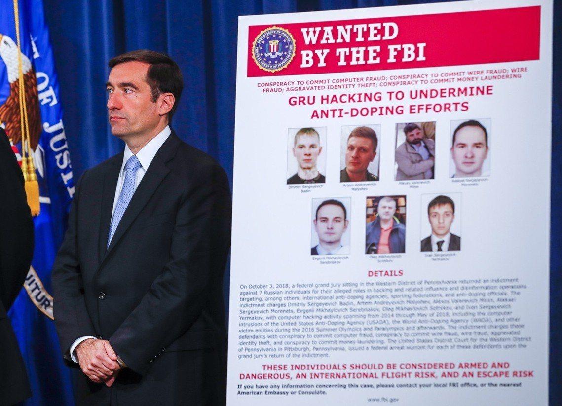 美國司法部起訴俄羅斯GRU的7名特務。 圖/歐新社