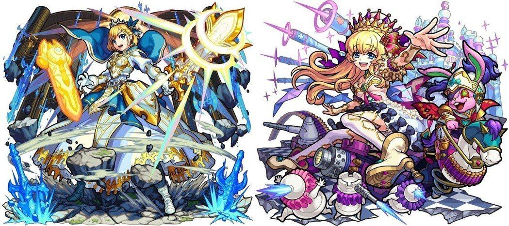 左:光屬性 ★6不滅的圓桌騎士王 亞瑟/右:闇屬性 ★6鏡之國的絕對女王 愛麗絲