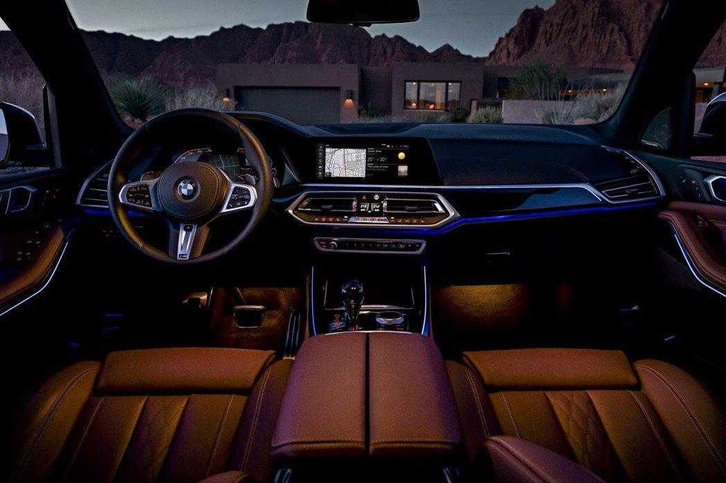全新世代BMW X5導入全數位虛擬座艙含原廠中文智能衛星導航系統,整合12.3吋中控觸控大螢幕與12.3吋數位儀表板。 圖/BMW提供