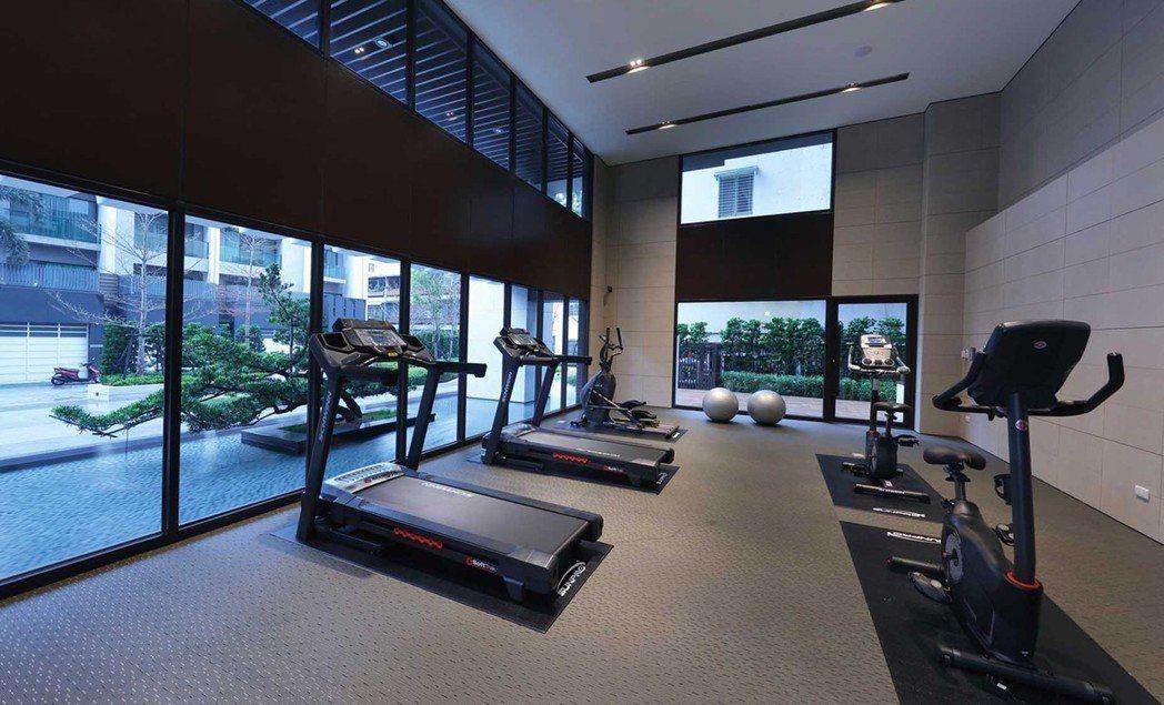 健身中心實景。 圖片提供/藏美建設
