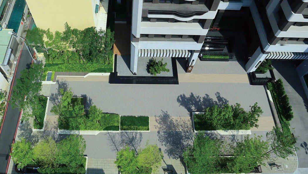 中庭花園實景。 圖片提供/藏美建設