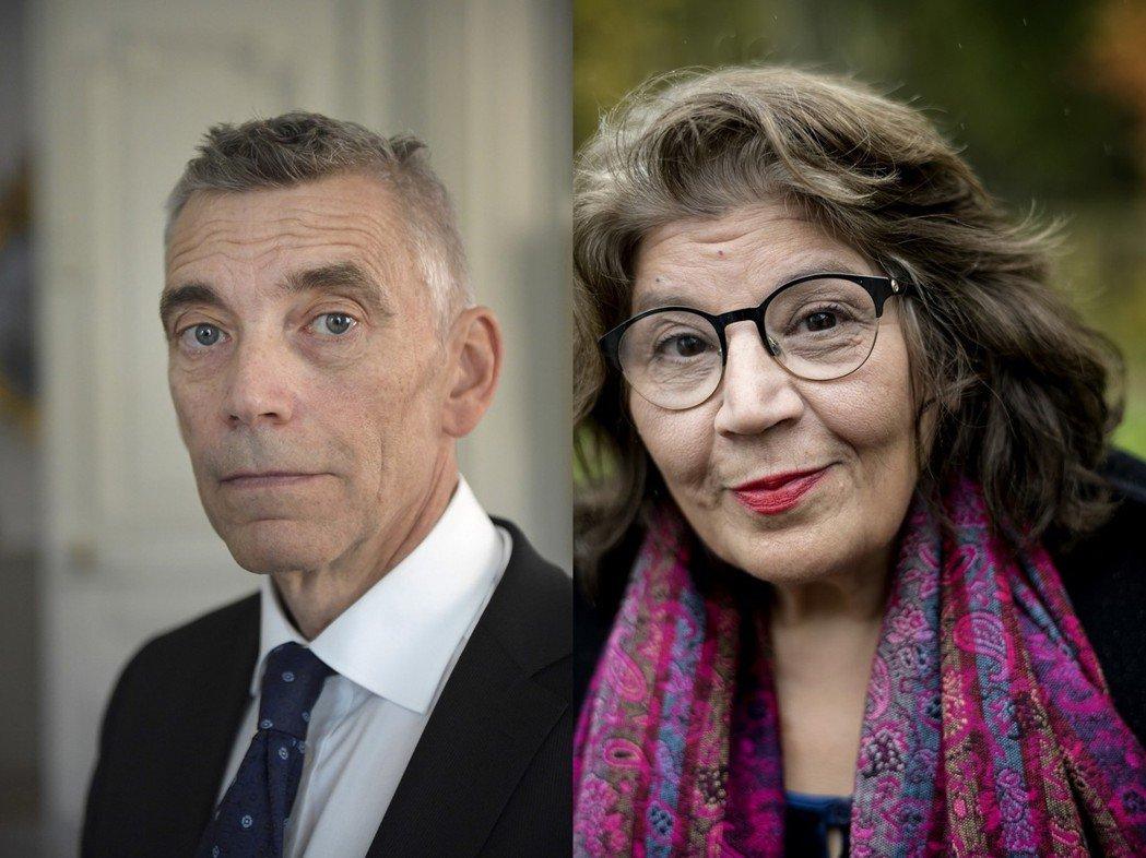 2018瑞典學院新院士:左為瑞典最高法院法官盧內森(Eric Runesson)...
