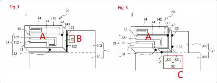 圖1 EP 2493011 A1的Fig. 1與Fig. 3 (圖片來源: E...