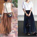 換季裙怎麼選?日本女生用百褶長裙展現秋意