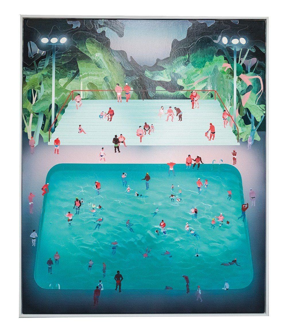 范揚宗的泳池系列畫作。
