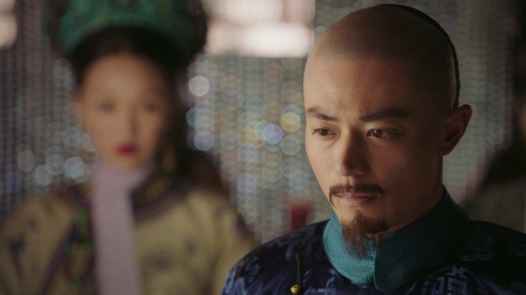 霍建華劇中獲知「如懿」讓「容貴人」無法生育相當震怒。圖/截圖自愛奇藝台灣站