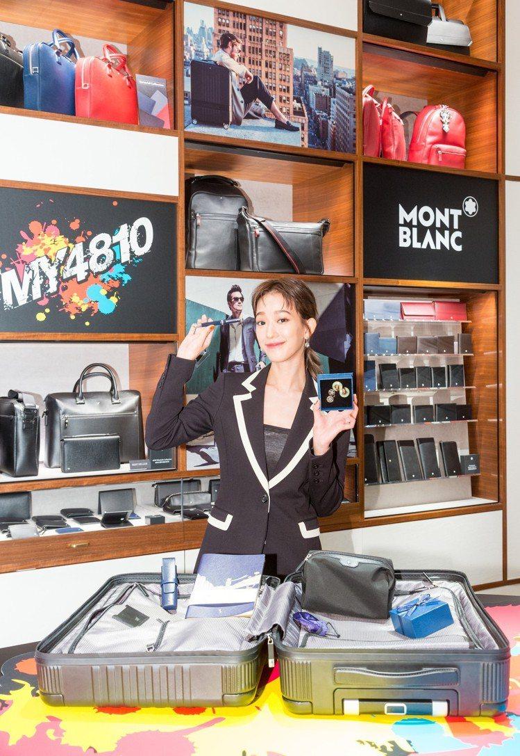 孟耿如分享自己的萬寶龍#MY4810系列登機箱打包術,秀出米蘭戰利品以及莫允雯送...