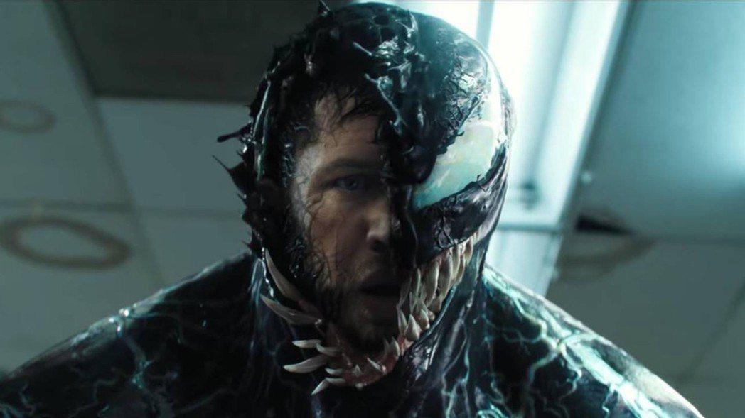 湯姆哈迪在「猛毒」中繼續展現野性魅力。圖/索尼提供