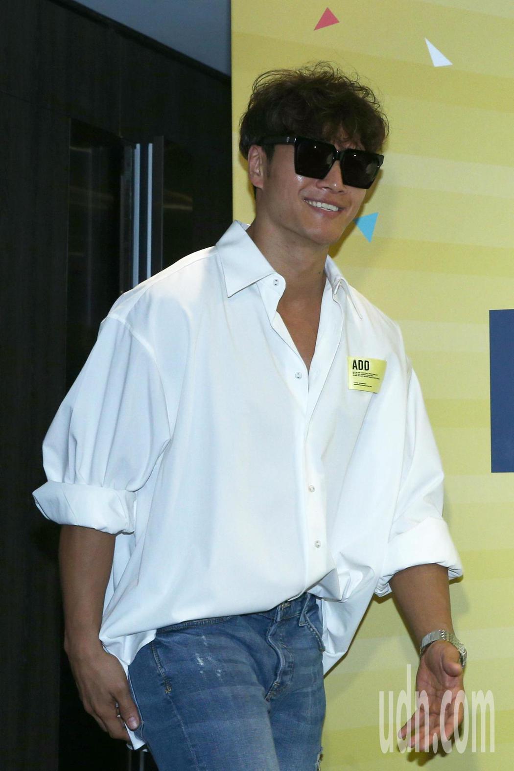 韓國Running Man節目班底金鍾國下午舉行來台媒體聯訪。記者蘇健忠/攝影