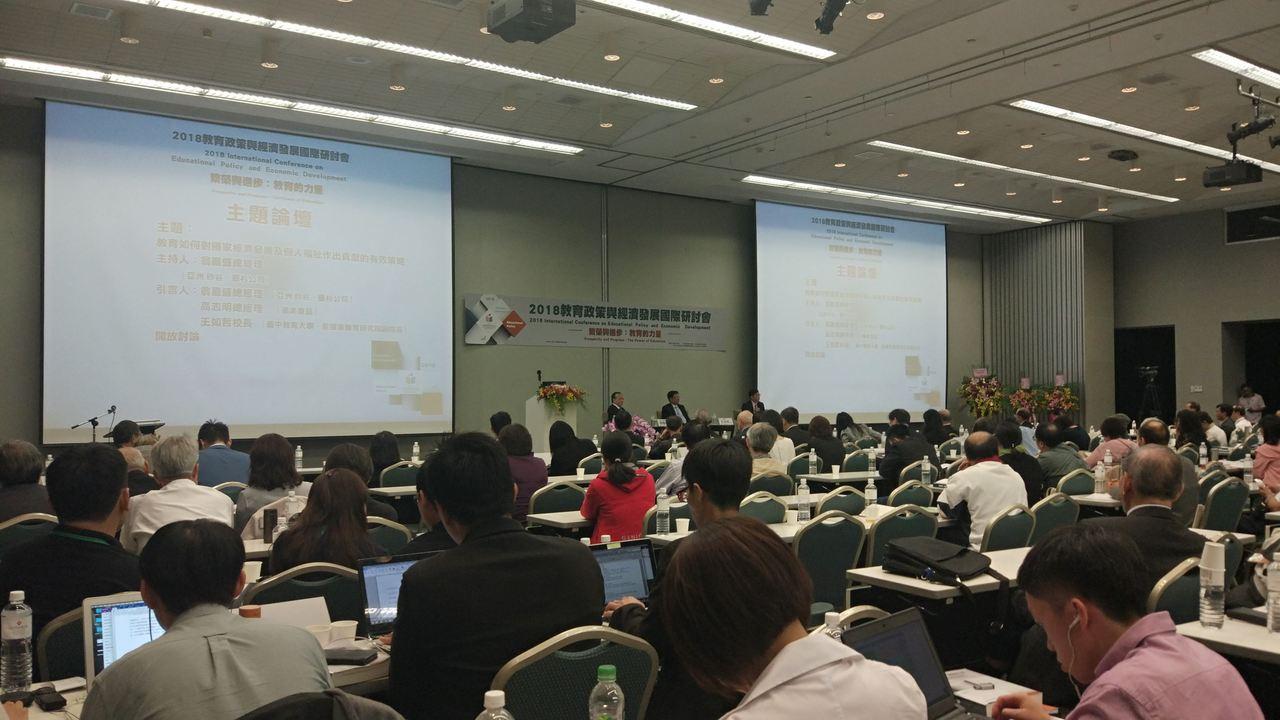 義美食品總經理高志明在「教育如何對國家經濟發展及個人福祉作出貢獻的有效策略」主題...