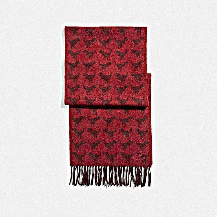 Rexy圍巾,售價5,900元。圖/COACH提供