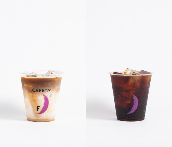 冠軍拿鐵M/70元、L/90(左);冠軍黑咖啡M/40、L/55(右)。圖/CA...