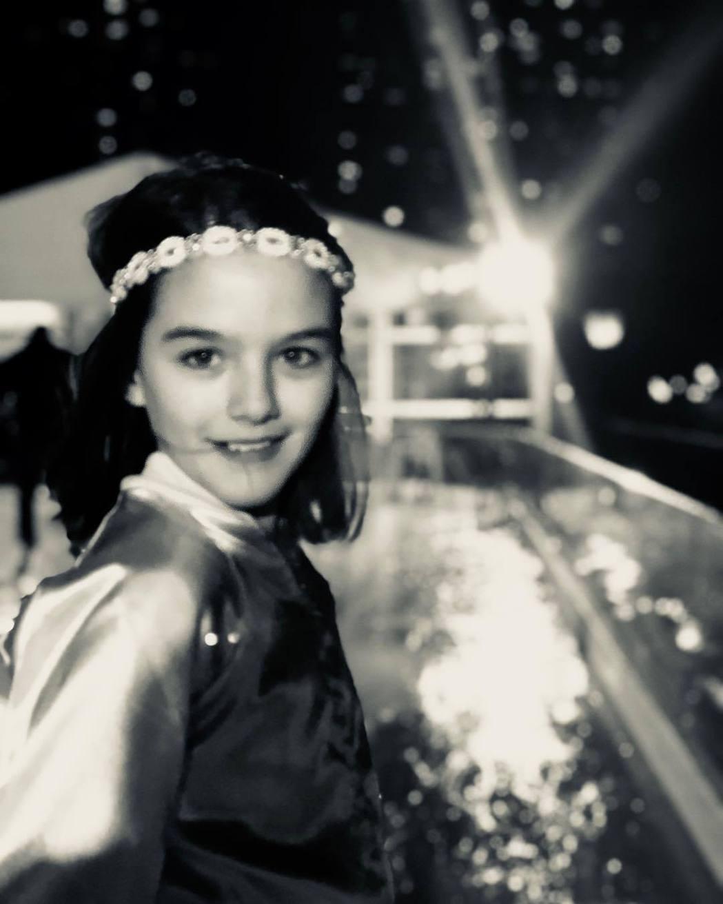 蘇蕊今年12歲,愈來愈像個小公主。圖/摘自Instagram