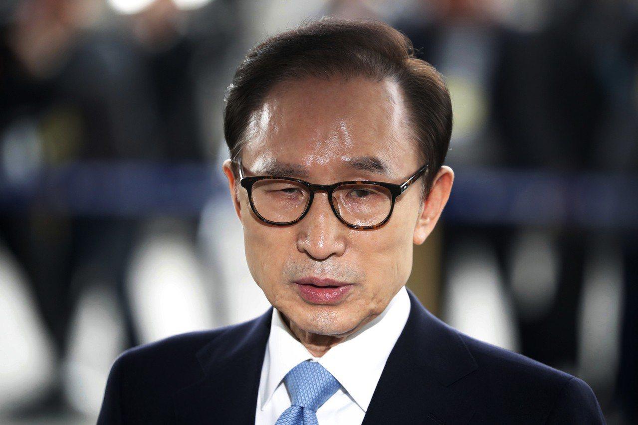 南韓前總統李明博,因涉嫌貪汙被判15年有期徒刑。(美聯社)