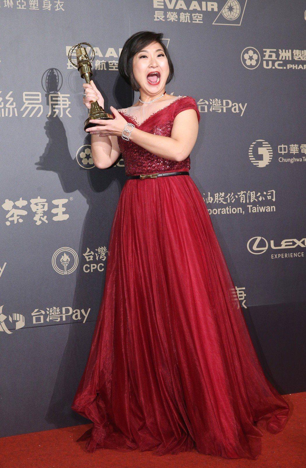 廖怡裬獲迷你劇集(電視電影)女配角獎。記者鄭清元/攝影