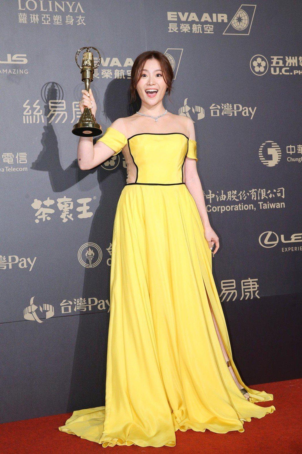 楊小黎獲戲劇節目女配角獎。記者鄭清元/攝影