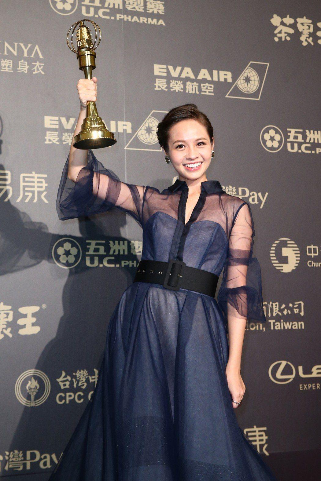 第五十三屆金鐘獎,黃姵嘉獲戲劇節目女主角獎。記者王騰毅/攝影