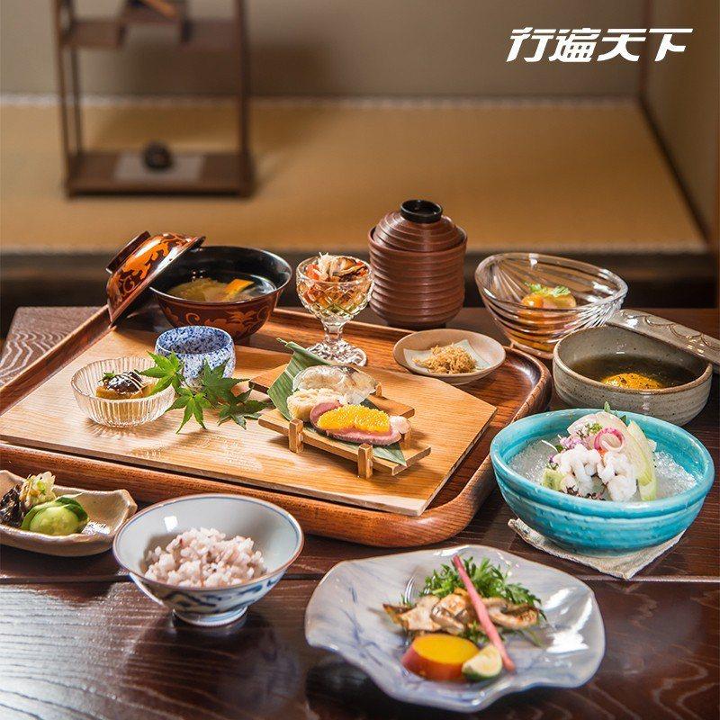 節令時蔬烹製而成的京都宴席料理。  攝影|行遍天下