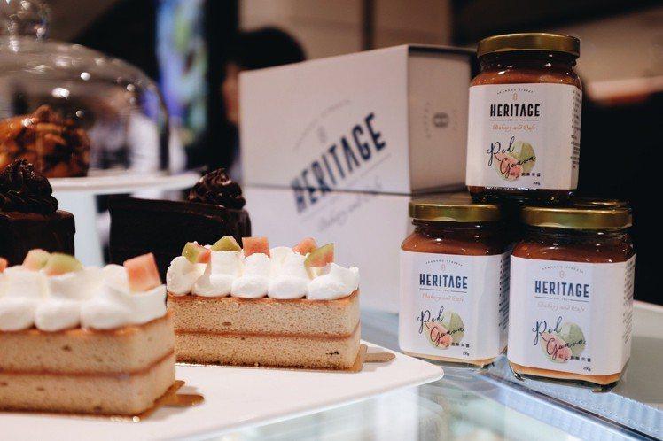Heritage Bakery &Cafe自己熬製果醬,亦有販售。圖/記者沈佩...