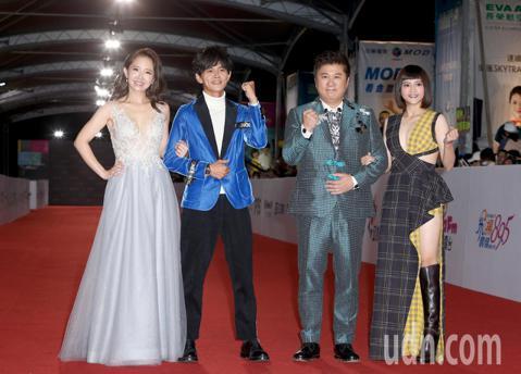 第53屆金鐘獎,胡瓜、瑪莉亞、阿翔、謝忻走星光大道。
