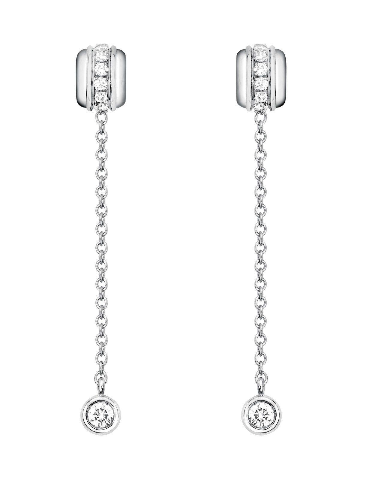 吳念軒配戴Possession系列耳環,白K金鑲嵌16顆圓形美鑽約0.25克拉,...