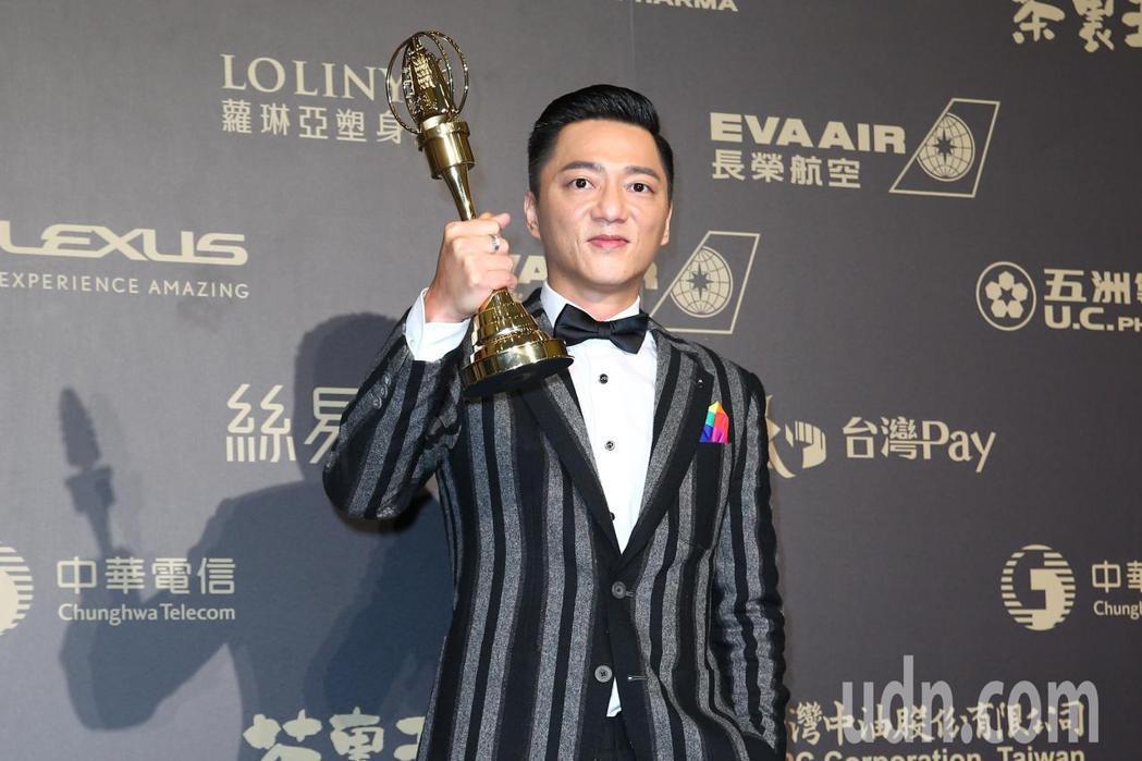 第五十三屆金鐘獎,藍葦華獲迷你劇集(電視電影)男主角獎。記者王騰毅/攝影
