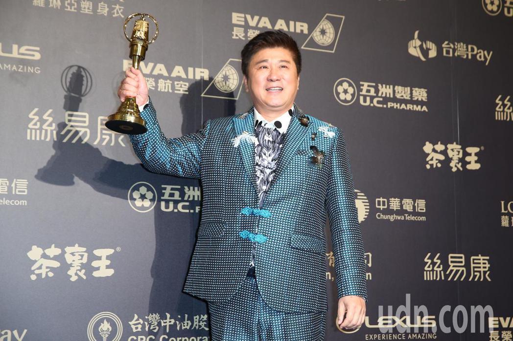 第五十三屆金鐘獎,胡瓜獲綜藝節目主持人獎。記者王騰毅/攝影