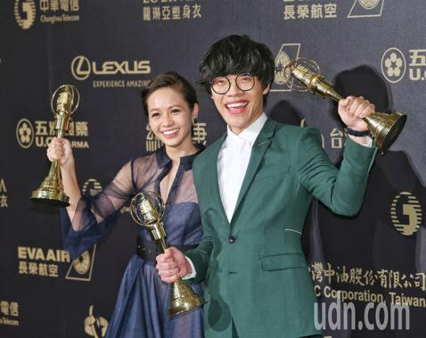 盧廣仲獲戲劇節目男主角獎,黃姵嘉奪女主角獎。
